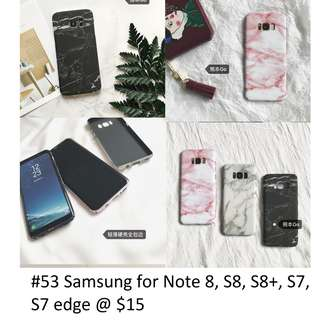 [PO] Note 8, S8, S8+, S7, S7 edge Marble Case