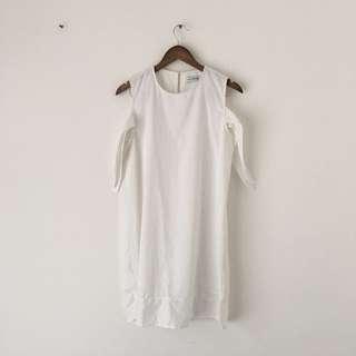COTTONINK DRESS WHITE