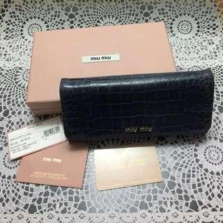 MIUMIU寶藍色長銀包 MIUMIU indigo blue long wallet
