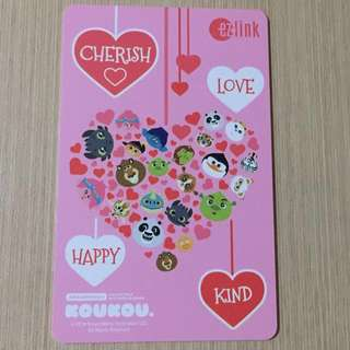 Limited Edition Brand New Cherish Love Happy Kind Design ezlink Card For $12.