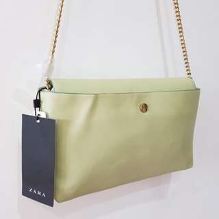 Sale! Zara Apple Green Sling Bag