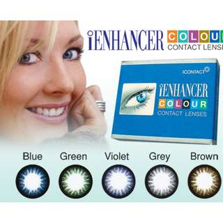 Contact lens Monthly , 5 color , 14.mm , iContact iEnhancer