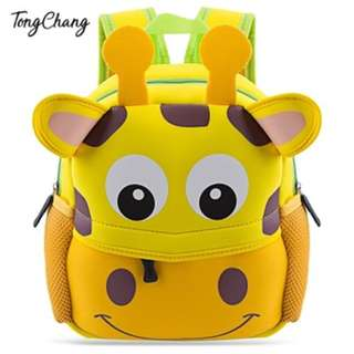 CARTOON ANIMAL DESIGN WATERPROOF DURABLE SCHOOL BAG FOR CHILDREN