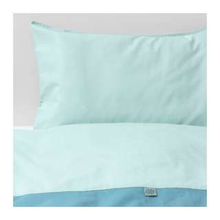 [IKEA] TILLGIVEN Quilt Cover / Pillowcase for Cot / Turquoise