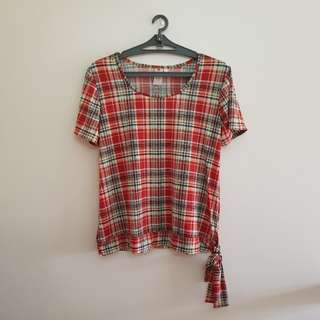 Poetry Red Plaid Shirt PRE-LOVED 💜