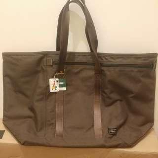 New Porter big dark brown Handbag 全新Porter 深啡色大袋