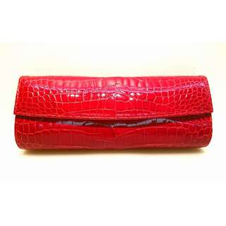 Raylowi crocodile skin hand bag