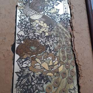 vintage Chinese embrodred panel 1700s-1800 embrodred silk gold tread *NOT FOR SALE* MUSEAM PIECE