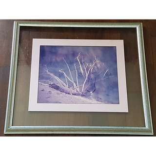 Vintage Rustic Painting in acrylic wooden frame B