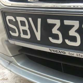 Selling my nice SBV3328X Number Plate