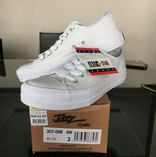 Jazz star original pallas white school shoe