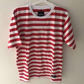 Westholm red white stripped tee