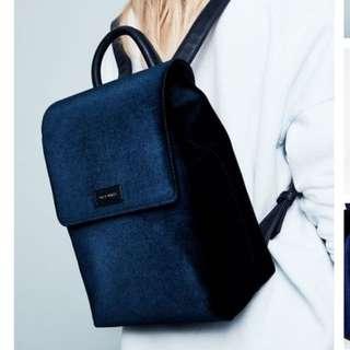 Jack Wills Mini Velvet Backpack