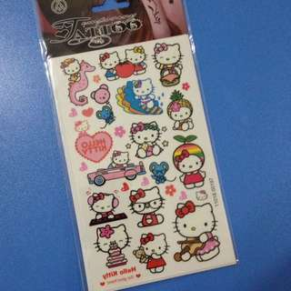 hello kitty temporary tattoo