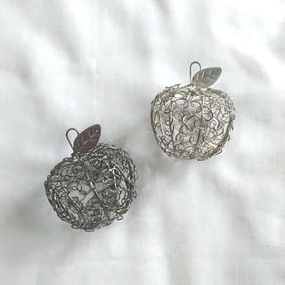 Silver Apple Wire Casing (set of 2)