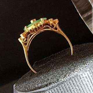 20k Jade & Diamond Ring - Vintage