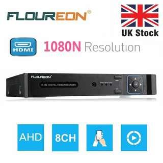 FLOUREON 8CH AHD 1080N CCTV DVR H.264