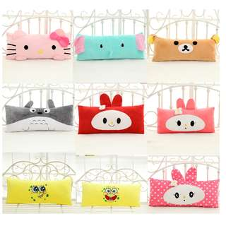 [PO] Cartoon Pillow/ Bolster, Hello Kitty, Spongebob square pants, Melody , rilakkuma, elephant etc