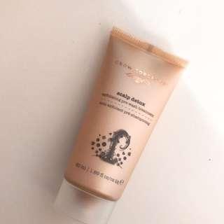 Grow Gorgeous scalp detox exfoliating pre-wash treatment 50ml,頭皮淨化磨沙膏