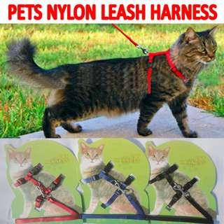 TPE028 Adjustable Nylon Small Pets Leash Harness Belt