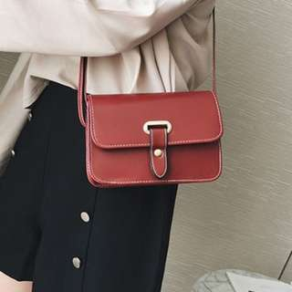 Simple Gold Lock Sling Bag