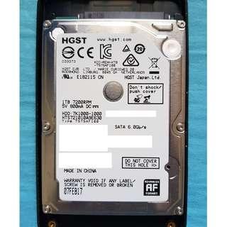"Hitachi Travelstar 7200RPM 7K1000 1TB 2.5"" Laptop Hard Drive"