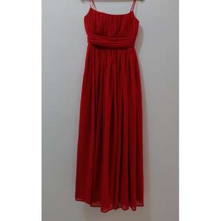 Preloved Gaun Pesta Merah