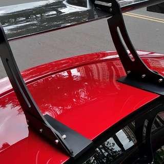 碳纖維GT尾翼 免鑽孔 雙門和四門車都適用