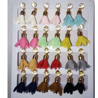 Set of 12 Tassel Earrings