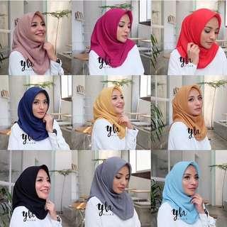 YLA Hijab Instant Polycotton (double hycomm) segiemoat