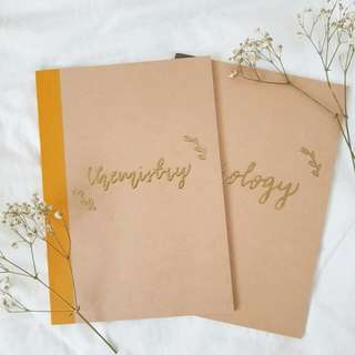 Customized gold embossed notebooks