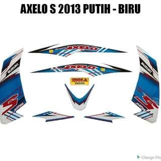Striping Axelo S 2013 Putih - Biru