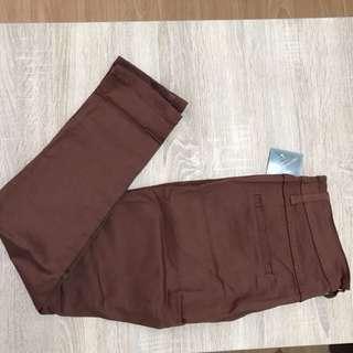 Celana oanjang chino coklat