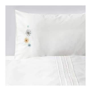[IKEA] TILLGIVEN Quilt Cover/ Pillowcase for cot / WHITE with flower