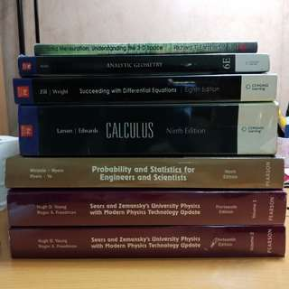 ENGINEERING BOOKS math physics calculus statistics probability geometry