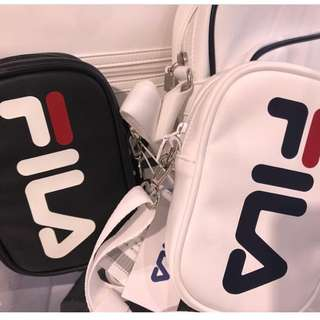 Quick Preorder! FILA Korea Soft leather cross body bag choose back / white