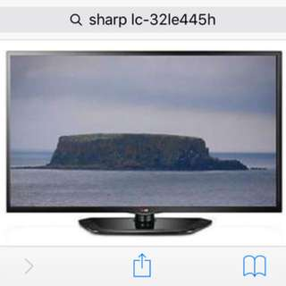 32in flat screen TV. New condition / never used