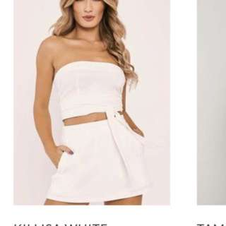 White top and skort set ! Brand new