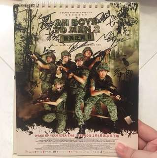 Signed Ah Boys to Men Calendar