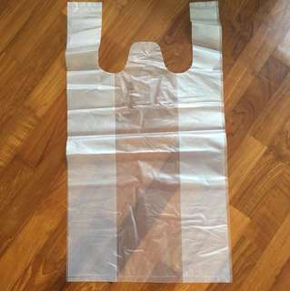 White thick plastic bags