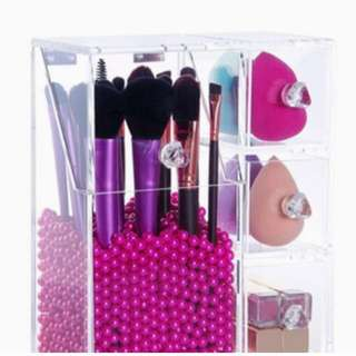 Acrylic box for makeup tools
