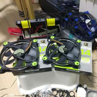 Thermaltake Riing 140mm fan green led ring
