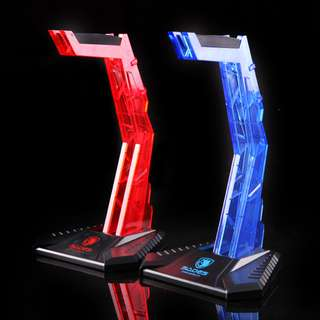 New Sades Gaming Headphone Stand Holder Acrylic Desk Headphone Hanger