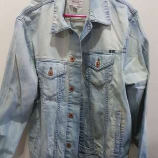 Lucky Brand bleached denim jacket