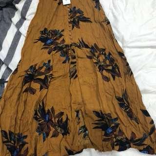 Showpo Floral Maxi Skirt