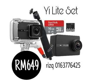 Yi Lite + 16GB + Stick + Waterproof Casing