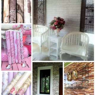 Adhesive wallpaper ,Mantle quality,Rubberized en Waterproof 👍😊