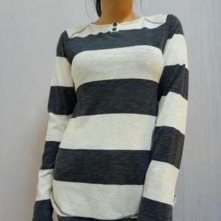 Tshirt Lengan Panjang Stripes