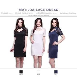 Matilda Lace Dress (Rok Pesta Bodycon Gaun Baju)