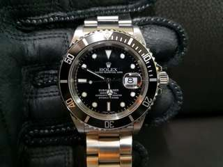 PREOWNED ROLEX SUBMARINER, 16610LN, Steel, 40mm, Y Series @ Year 2004 Mens Watch